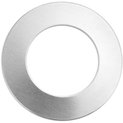 8 x Impress Art Aluminum Metal Ring Tags With Hole Jewellery Making Embossing