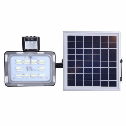 LED Solar Fluter Solarlampe Strahler Wandleuchte mit Bewegungsmelder Leuchte DE