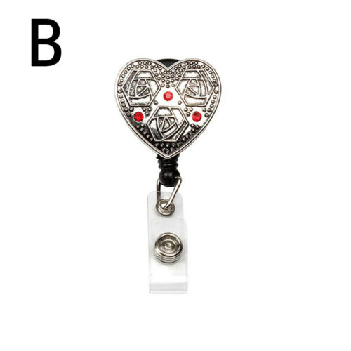 1pc Retractable ID Badge Holder Reel With Clip Nurse Badge Holder Office Supply