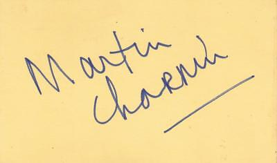 Theater Martin Charnin D 1985 Signed 3x5 Index Card Lyricist/director/annie Coa Entertainment Memorabilia