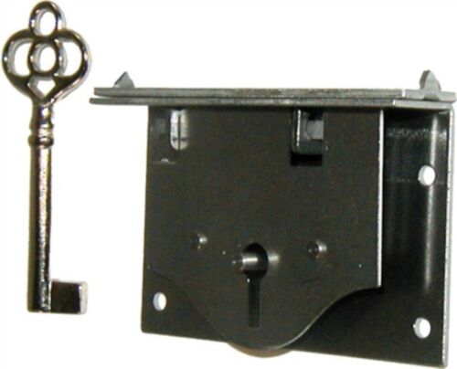 Half Mortise Chest Lid Lock Key trunk cabinet desk drawer antique vintage old...