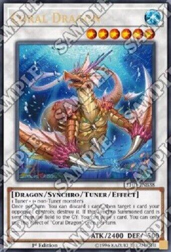 "/""Coral Dragon/"" LEHD-en038 Ultra Rare NEAR Comme neuf Yugioh!! 1 Edition!"