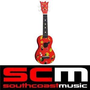 Guitars & Basses Knowledgeable New Red Mahalo Pineapple Soprano Ukulele Brand New W Uke Gig Bag Real Instrument String