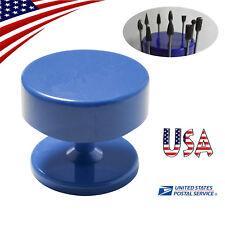 Blue Us Magnetic Dental Lab Bur Burs Holder Stand Dental Equipment Tools Us