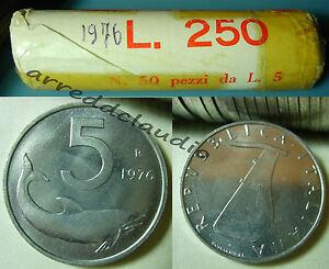 ITALIA-ROTOLINO-ROLL-50-pz-5-LIRE-FDC-1976