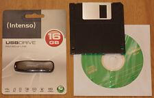 Intenso 16GB USB Stick inkl. Treiber CD FDD Windows 98 Se WIN 98 SE 98SE 2000 XP