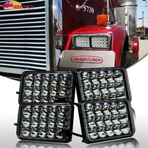 4pc-Freightliner-Classic-Projector-sealed-beam-headlight-replace-hologen-HID