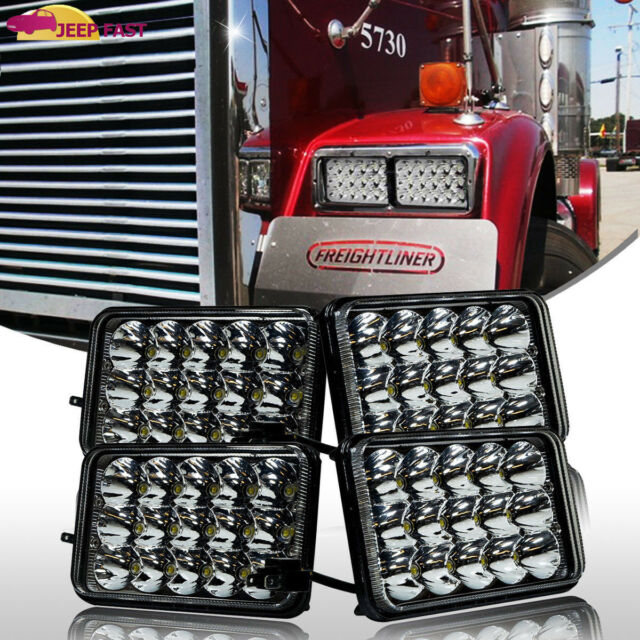 4pc Freightliner Classic Projector  sealed beam headlight replace hologen HID