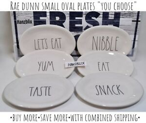 RAE-DUNN-Oval-Plates-TASTE-CHEESE-SNACK-TOXIC-034-YOU-CHOOSE-034-NEW-039-19
