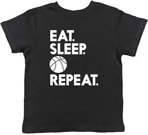 Kids Eat Sleep Floss Repeat T-Shirt Boys Girls Dance Tee Top