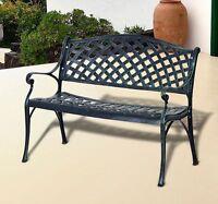40 Cast Aluminum Garden Bench Patio Chair Outdoor Furniture Deck Porch Backyard on sale