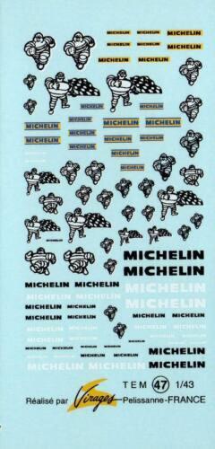 Decalbogen Michelin alt mit Bibendum 1:43 047