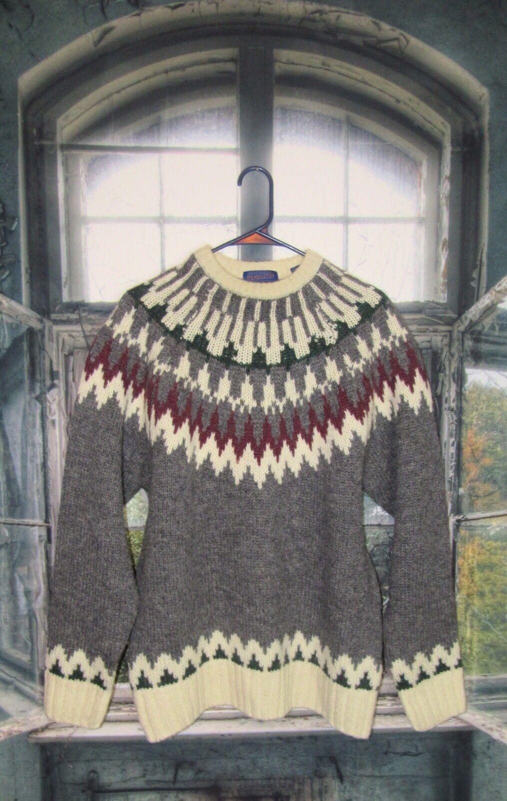 Pendleton Nordic 100% Shetland Virgin Wool Sweater. Size M L Beautiful EUC.
