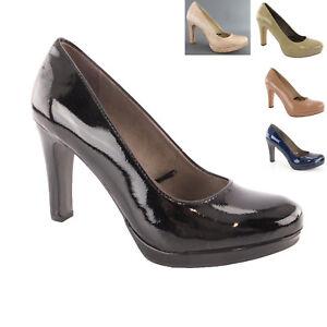 Schuhe Cm Zu Absatz 9 Details Pumps Tamaris Plateau Lacksynthetik Damen Neu EH9IW2D