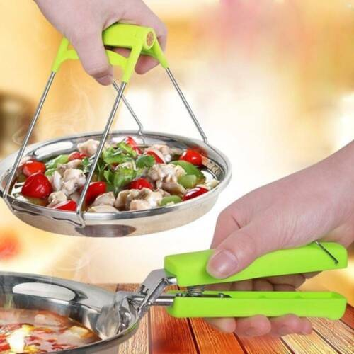 2pcs//set Kitchen Tools Stainless Steel Take Bowl Clips Anti-scalding Dish Clips
