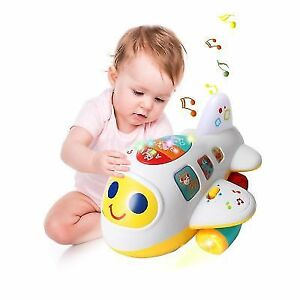 bcdd04c03 HOMOFY Baby Toys Electronic Airplane W Lights   Music Best Kids ...