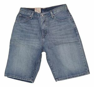 44b2a7580bb Levis Mens 569 Loose Straight Fit Jean Shorts Light Blue Wash 29 30 ...