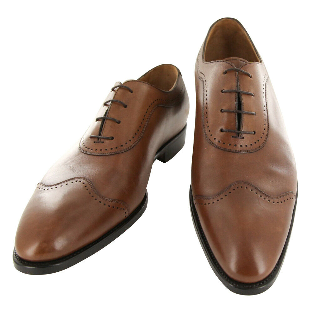 New Kiton Brown Leather Shoes - Lace Ups - 12/11 - (USS187B1009)
