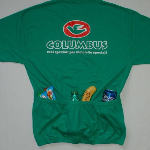 *WITH 3 POCKETS* Bike T-Shirt Medium Small Columbus Cycling Tee Shirt XL