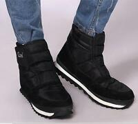 Mens Winter Snow Non-Slip Waterproof Warm Ankle Boots Round Toe Flat Shoes E259