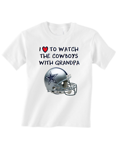 new concept 28b35 edbb8 Details about Dallas Cowboys Toddler T-Shirt Love To Watch With Grandpa Tee