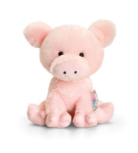 Keel Toys Pippins 14cm Curly Pig Cuddly Beanie Soft Toy Plush //Teddy SF4867