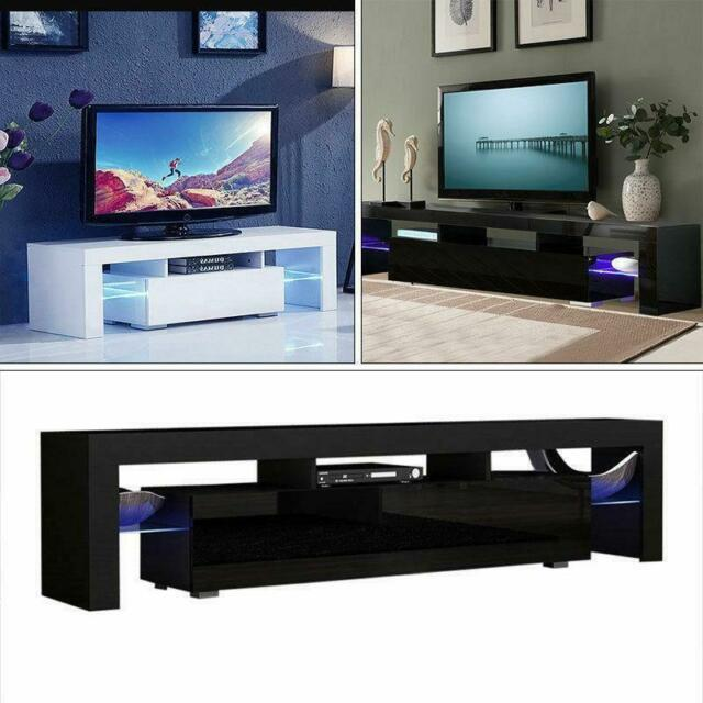 Tv Stand Unit Cabinet With Led Lights