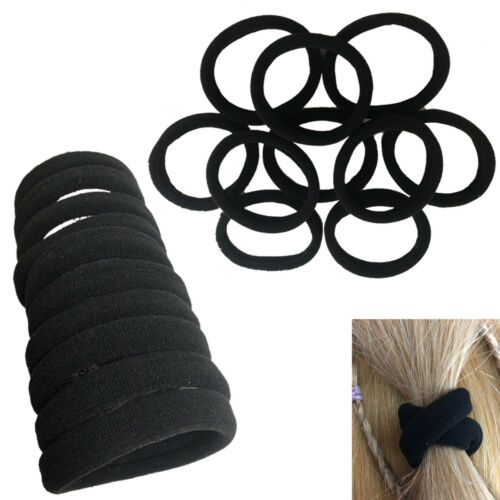 Hair Bobbles Black Head Bands Stretchy Ponytail Thicker Stronger Elastic Ponios
