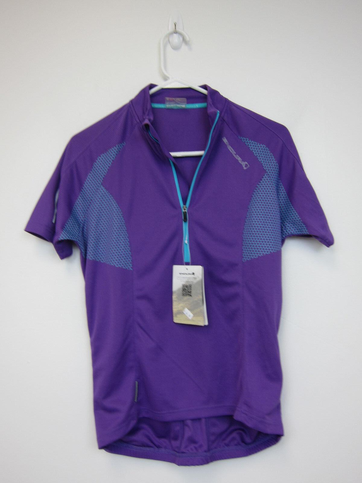 Endura Xtract Short Sleeve Jersey - Womens Medium - purplec - NWT