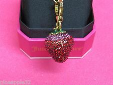 Juicy Couture Gold Tone Pave Strawberry Charm New in Box