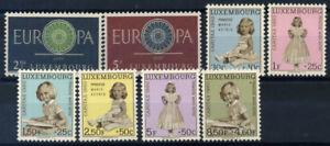 Lussemburgo 1960 MER. 629-636 post fresco 100% CEPT, Caritas, principessa Marie-astrologia
