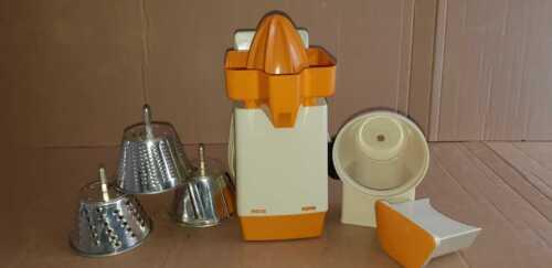 Unused moulinex citrus juicer, slicer, shredder