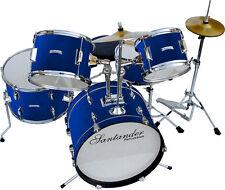 Großes Kinderschlagzeug, Drum, Komplett Set, 8 teilig, Blau