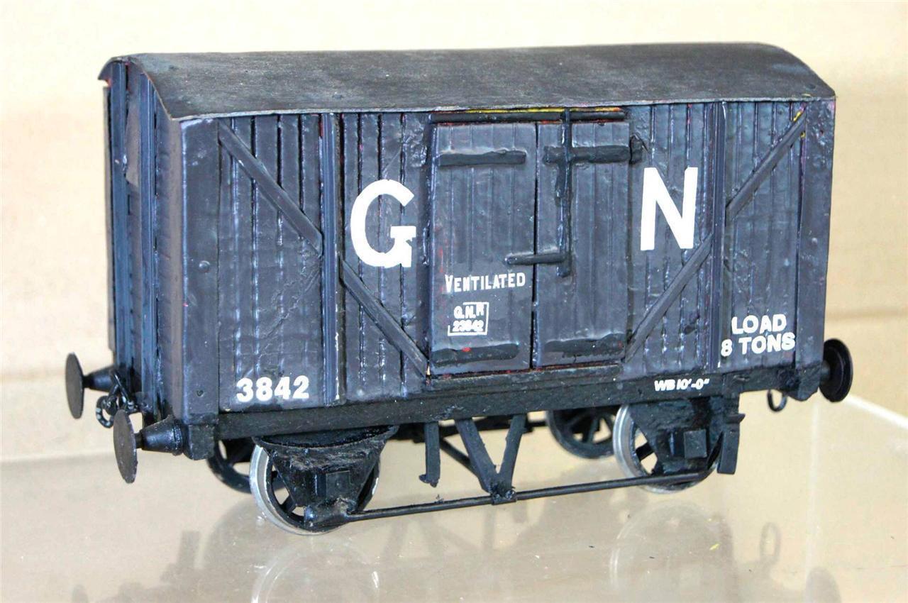 G G1 GAUGE 1 KIT BUILT GN 8 TON EXTERNAL FRAME VENT VAN WAGON 3842 NICE ei