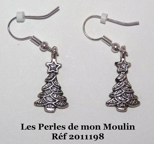2011198 Boucles d/'Oreille Sapin Cristal