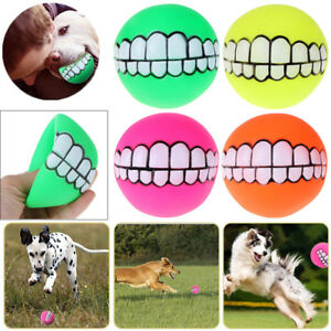 Puppy-Pet-Dog-Dental-Teething-Healthy-Teeth-Chew-Squeaker-Training-Play-Ball-Toy
