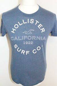 HOLLISTER-Mens-Blue-Short-Sleeve-T-Shirt-Size-Small