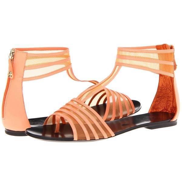 695 Victor & Rolf s49wp0067 Estilo De De De Gladiador Sandalias Planas, Para Mujer Zapatos, salmón  varios tamaños