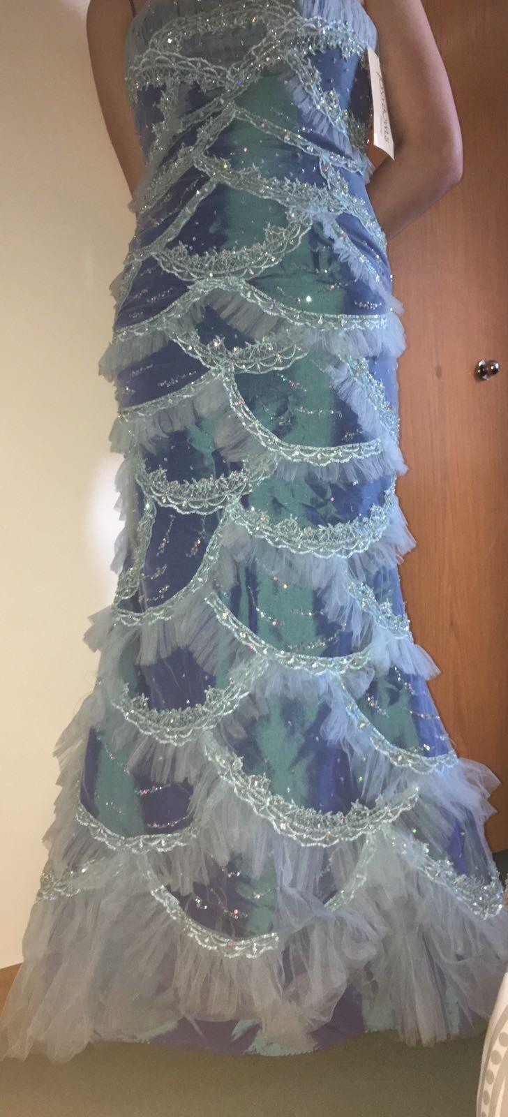 Vestido de fiesta marca nuevo  Sirena vestido azul claro talla 0  bajo precio