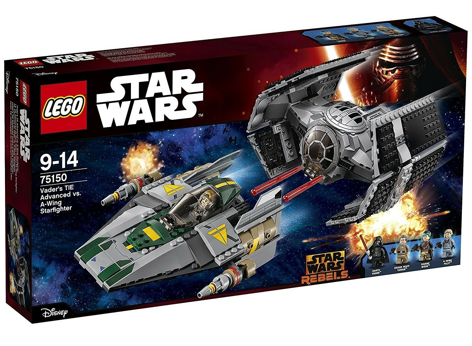 LEGO STAR WARS 75150 VADER'S TIE ADVANCED VS. A-WING STARFIGHTER NEW SEALED BOX