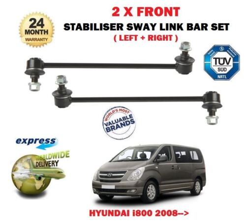 FOR HYUNDAI i800 2.5 CRDi 2008>NEW 2x FRONT STABILISER LINK BARS EO QUALITY