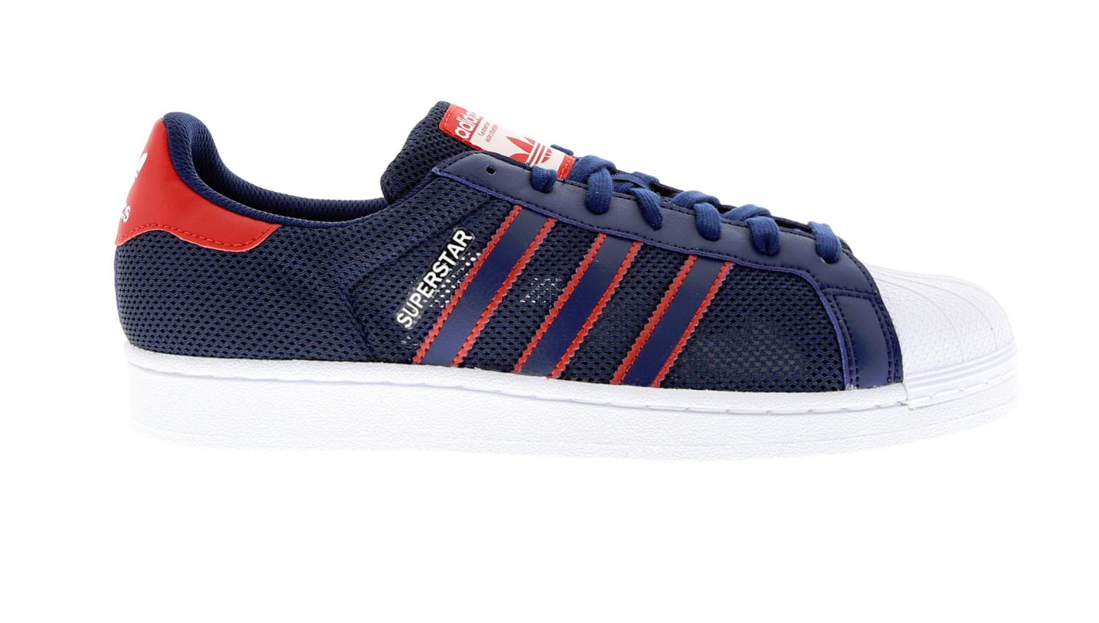 Da Uomo Adidas Superestrella Blu Scuro Tessile Casual Sport BB5395 RRP .99 Sautope classeiche da uomo
