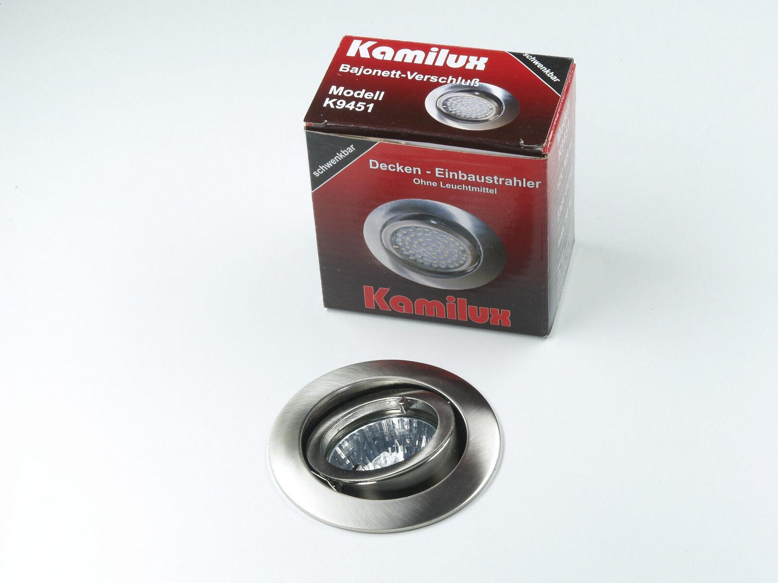 KAMILUX 230V Einbauspot Downlights Bajo & GU10 HALOGEN HALOGEN HALOGEN Leuchtmittel DIMMBAR | Reichlich Und Pünktliche Lieferung  | Fein Verarbeitet  | Innovation  7f1553