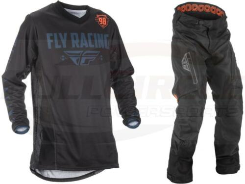 Fly Racing Patrol Black Orange Jersey /& Pant Combo Over-The-Boot Dirt Bike Gear