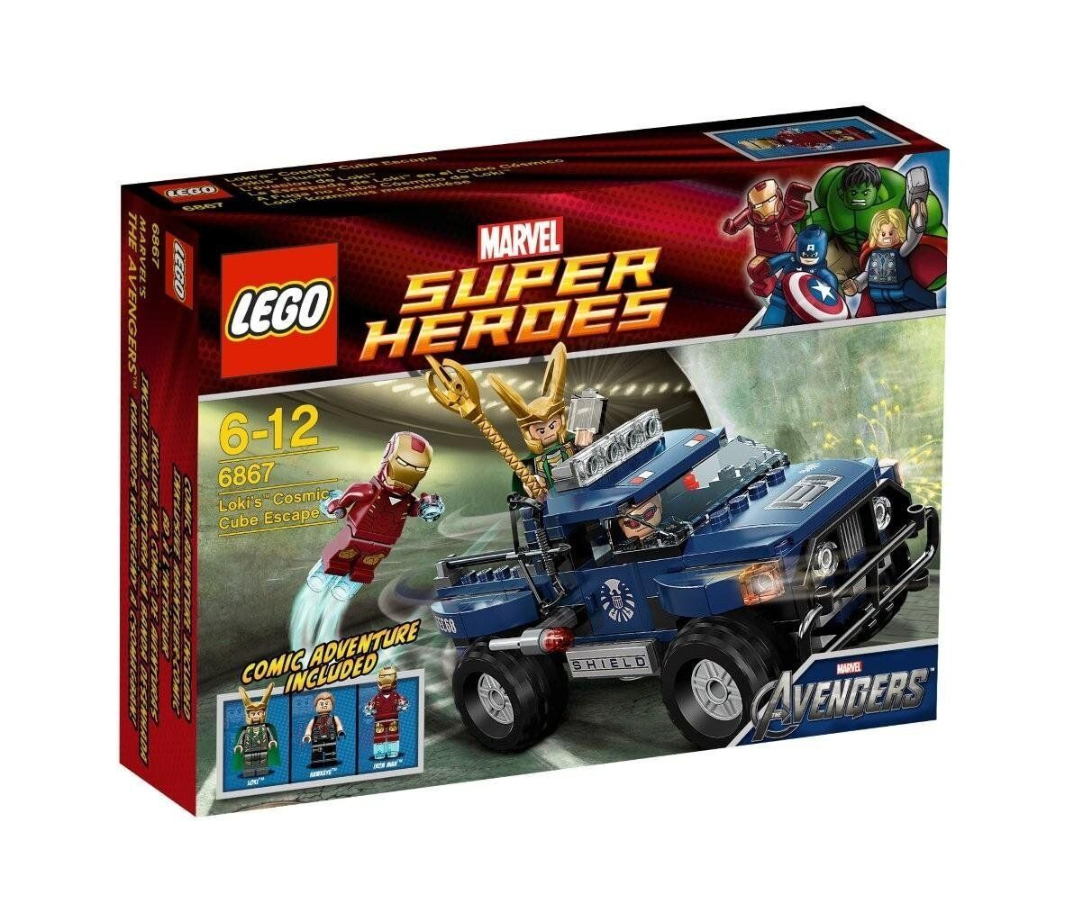 LEGO super heroes 6867 Iron Man Loki Hawkeye CUBUS évasion escape Marvel