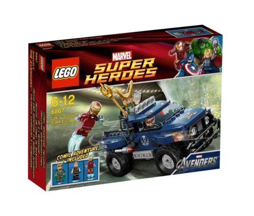 LEGO Super Heroes 6867 Iron Man Loki Hawkeye Cubus Flucht Escape Marvel