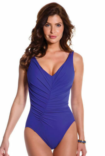 166 Magicsuit by Miraclesuit Slimming Solid Charlize Swimwear One Piece Size 8