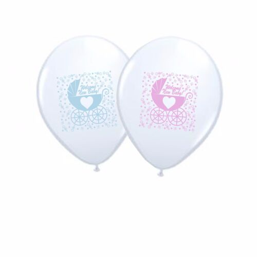 "New Baby 10/"" Gender Reveal Latex Party Decor Balloons set Boy /& Girl pack of 6"
