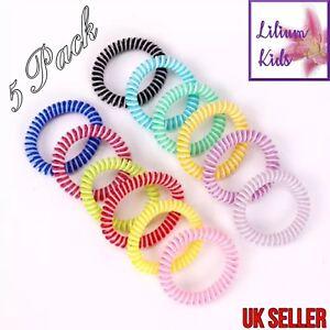 Spirale Bobine Cheveux Bandes/bobbles - 5 Pack - 2 Couleurs Spirales - 5.5 Cm-extensible-afficher Le Titre D'origine TrèS Poli