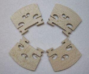 Quatre (4) La Pleine Taille 4/4 Hi-quality Violon Ponts-afficher Le Titre D'origine Et Aide à La Digestion